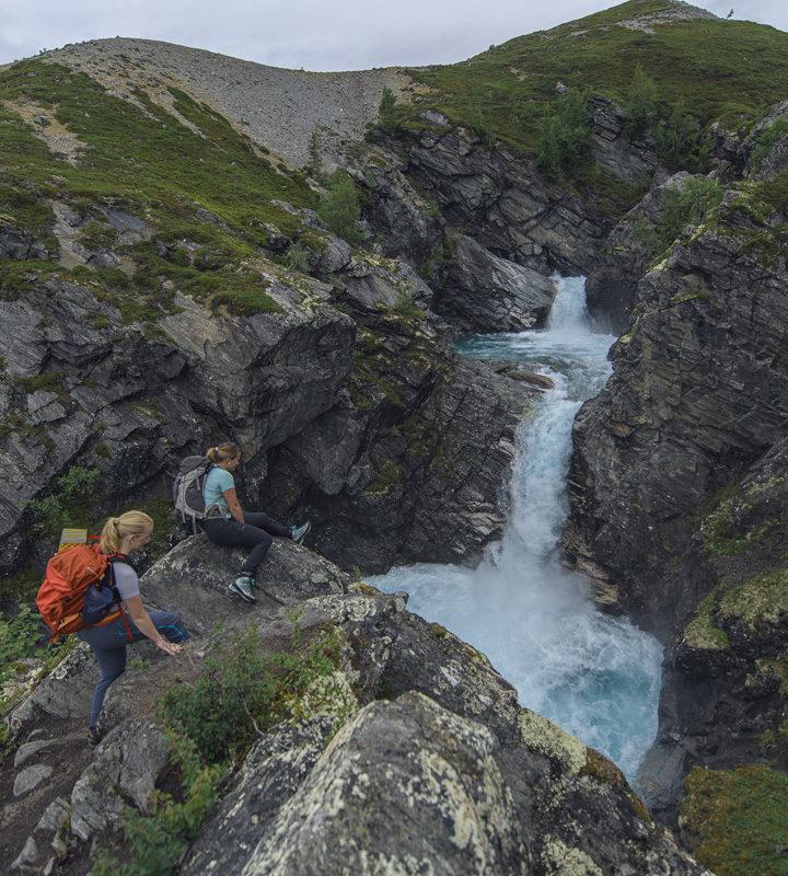 Turgåere i fjellet i Skjåk